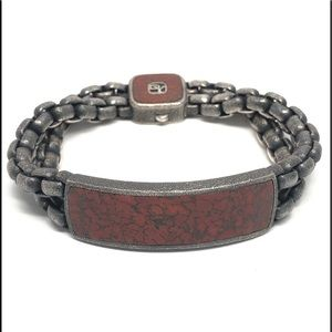 David Yurman Men's Exotic Stone Wide ID Bracelet